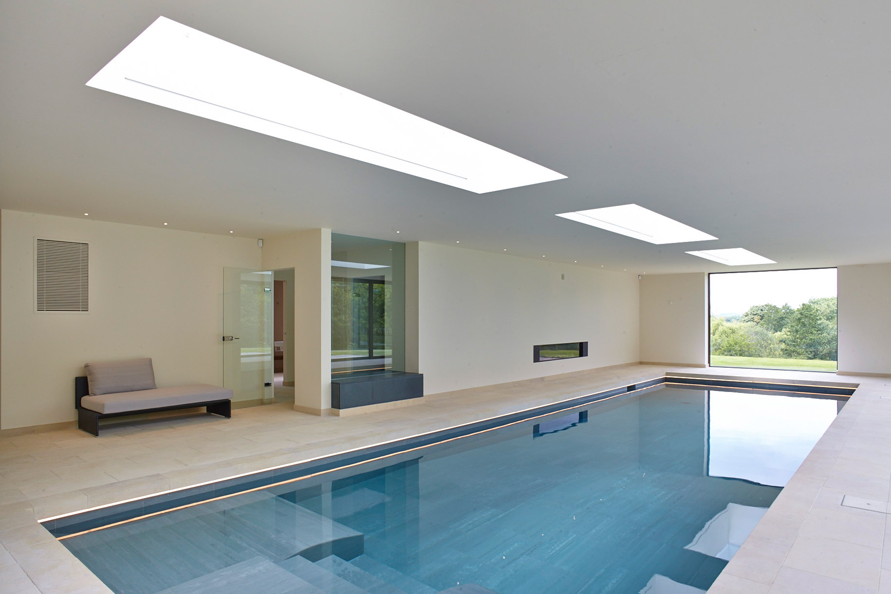 Indoor Swimming Pool with Counter Current Units in the Cotswolds