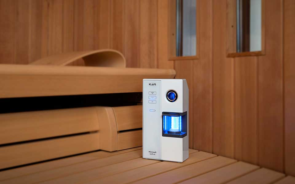 Microsalt for saunas and infrared cabins by KLAFS at Guncast