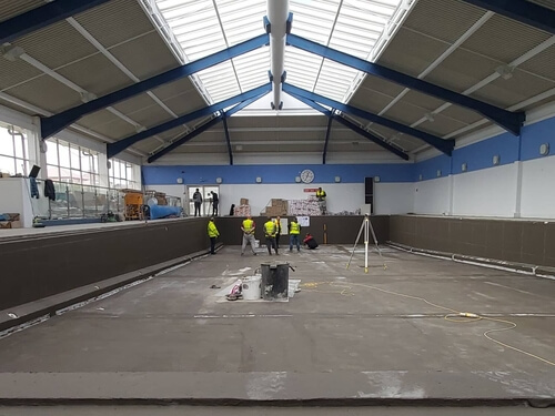 Progress being made by Guncast at the Falkland Island Swimming Pool