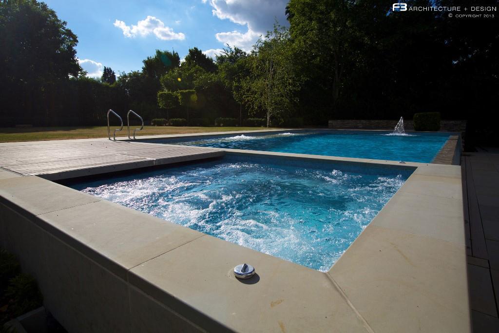 Проект крытого и открытого плавательных бассейнов в Хартфордшире