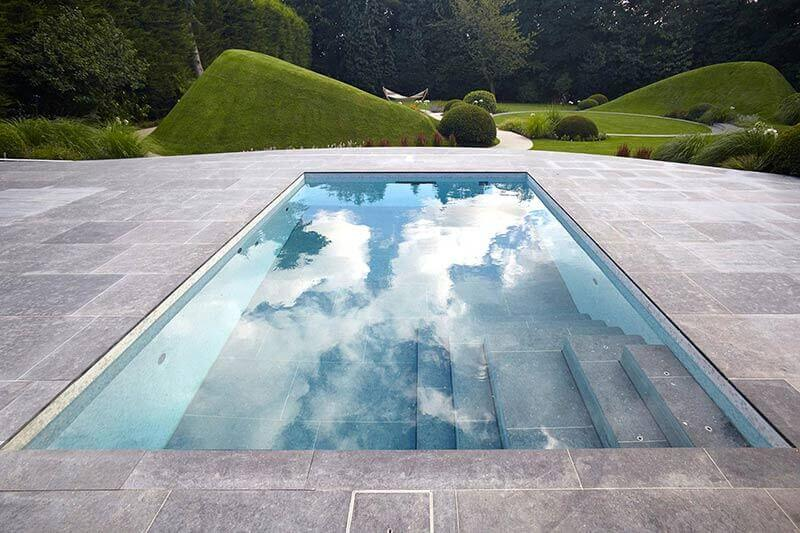 Moving Floor Swimming Pool patio by Guncast